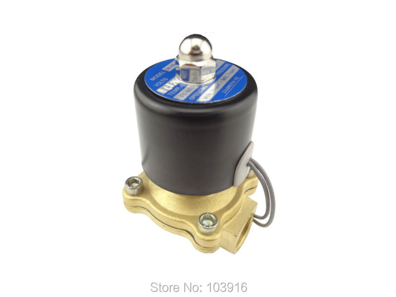 """New DC 12V Electric Solenoid Valve G1//2/"""" for Air Water Gas Diesel BSP"""