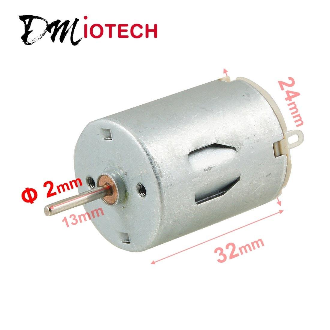UXCELL (R) 6V 6300Rpm 2Mm Shaft Magnetic Mini Motor For Diy Toys Hobby 6V DC