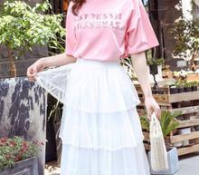 цена на Women's Summer Skirt Midi Polka Dot Chiffon Female Ruffle Skirt Bow Pleated High Waist Midi Skirts Streetwear