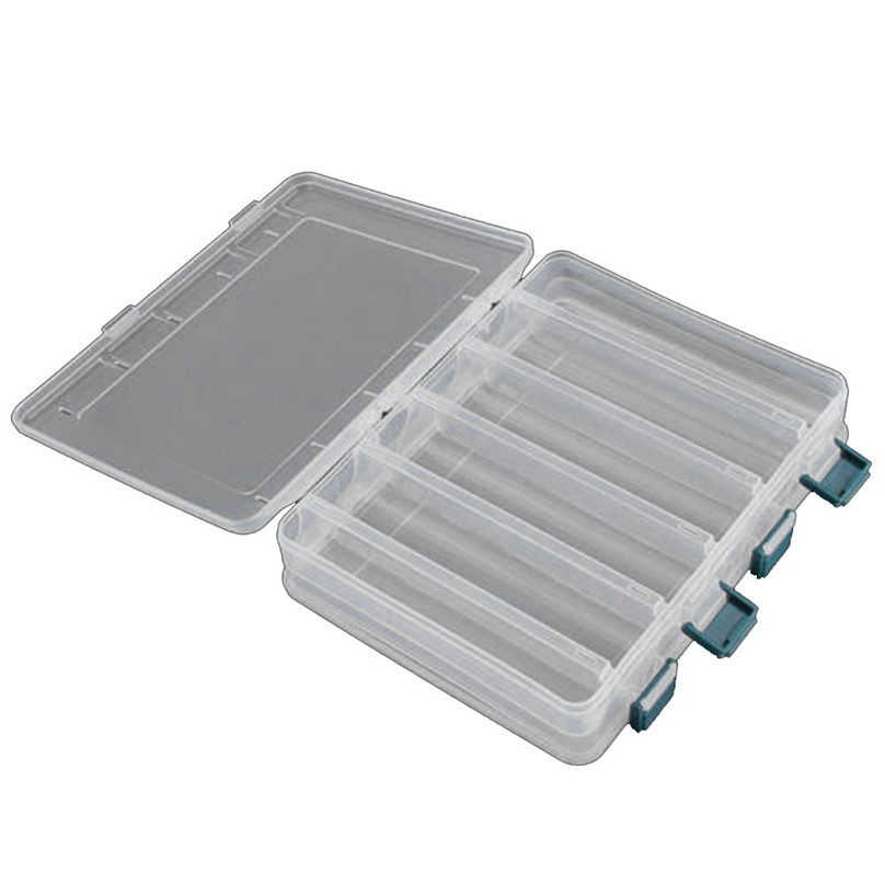 Details about  /Lixada Fishing Lure Box 14 Compartments 27*18*4.7CM Two Sided High Strength USA