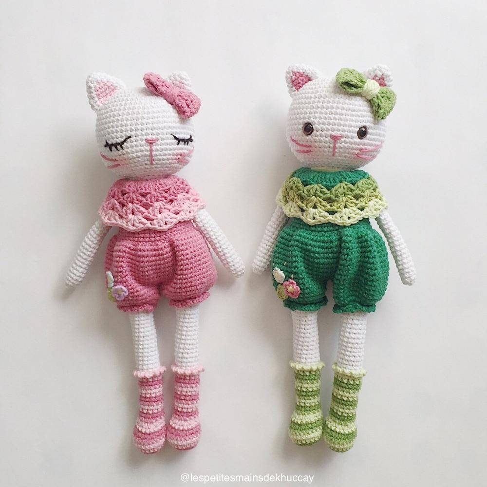 Armigurumi Crochet Rattle Toys Cat   Model Number 51753