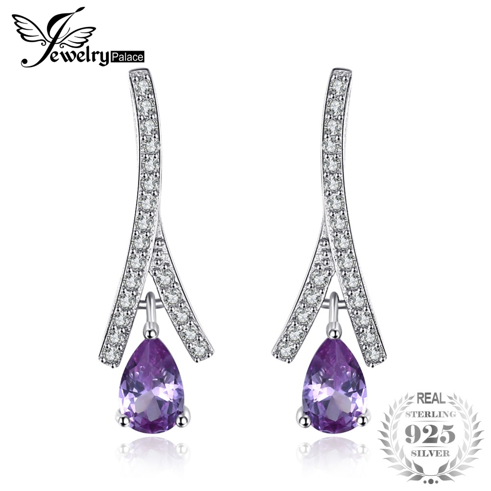JewelryPalace New 1.3ct Pear Created Alexandrite Sapphire Water Drop Earrings 925 Sterling Silver Jewelry Fine Jewelry For Women jewelrypalace new 1 3ct pear created alexandrite sapphire water drop earrings 925 sterling silver fashion fine jewelry for women