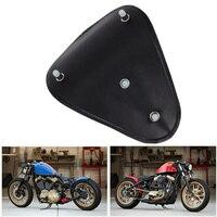 12 Leather Solo Seat Softail + Black Bracket + 3.1 Torsion Springs For Harley Davidson Sportster Bobber Chopper Custom Set