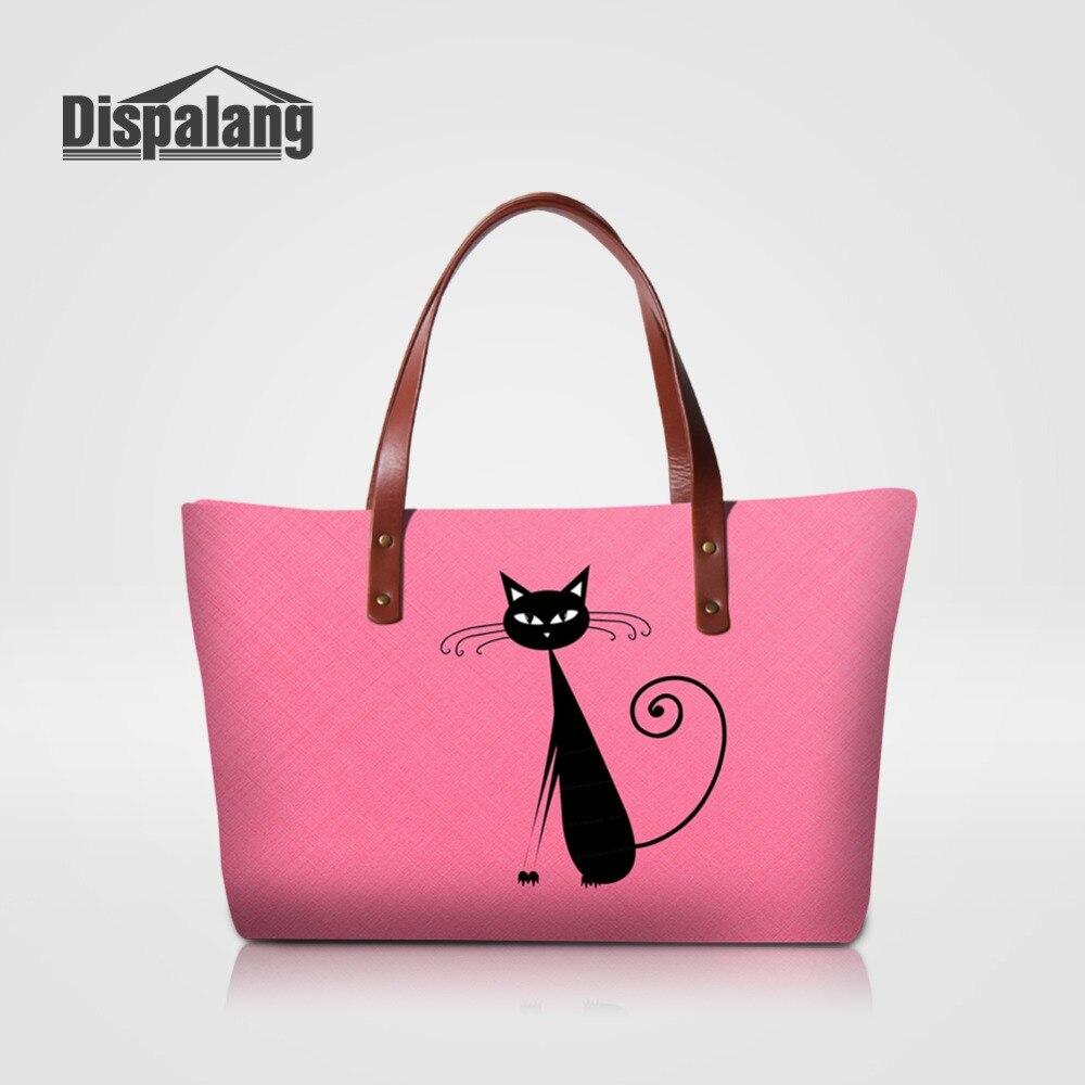 Luxury Women Handbags Pink Cat Pattern Ladies Pretty Totes Bag Female Shopping Top-handle Shoulder Bags Girls Handbag Sac A Main handbag