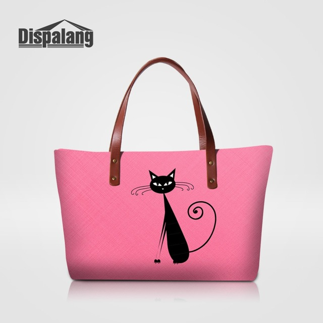 e019e8067d57 Luxury Women Handbags Pink Cat Pattern Ladies Pretty Totes Bag Female  Shopping Top-handle Shoulder