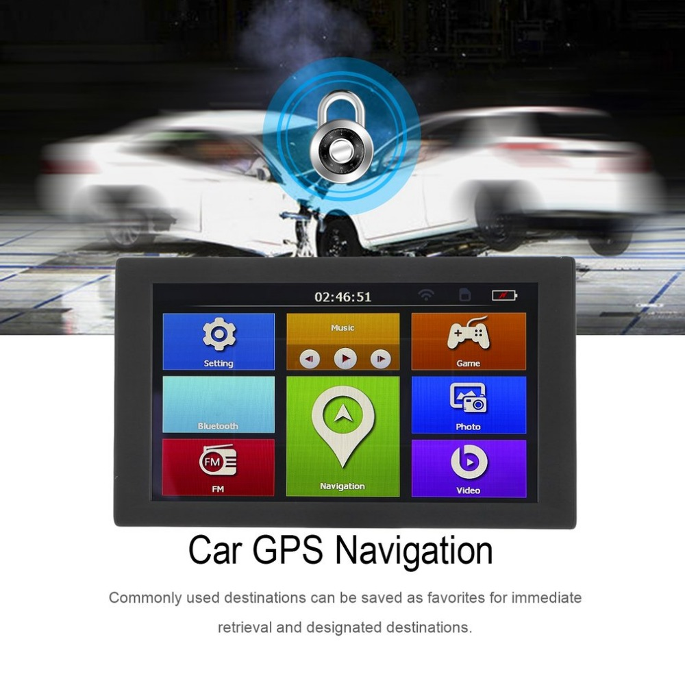 "9"" S900 Car Truck HD GPS Navigation 256M+8GB Reversing Camera Touchscreen FM Navigator Accurately Position Black(China)"