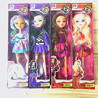 4pcs Funny Joy Monster Ever After High Quality Dolls Original Fashion Joints Anime Model Toy For