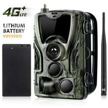 FTP SMTP 4G MMS SMS Hunting Trail Camera HC801LTE With 5000Mah Recharger Battery Wild Cellular Mobile  Night Vision Surveillance