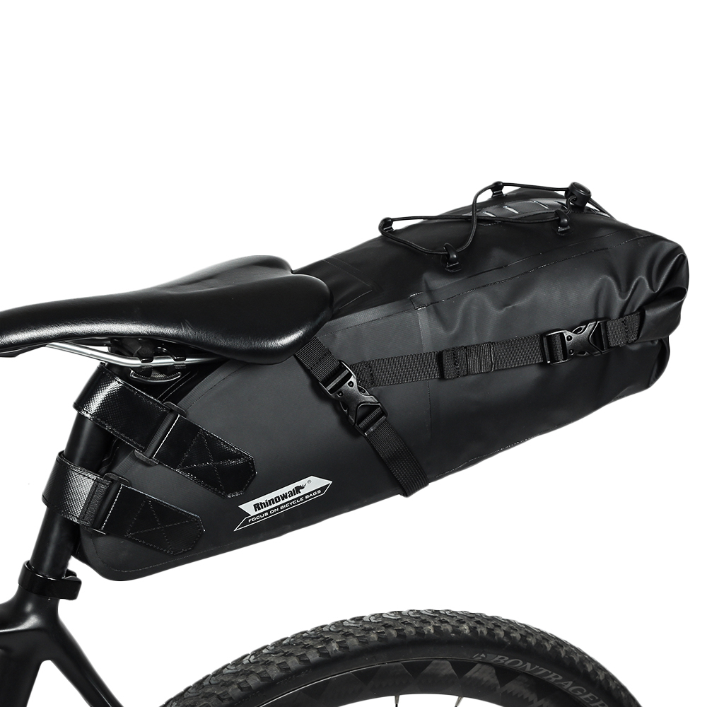 10L Bike Bag Bicycle Saddle Tail Seat Pouch Waterproof Storage Bags Cycling Rear Pack Pannier