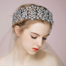 Coroa hadiyana charming corona princesa moda jóias femininas temperamento nupcial boda vintage bc5366 acessórios para el cabe