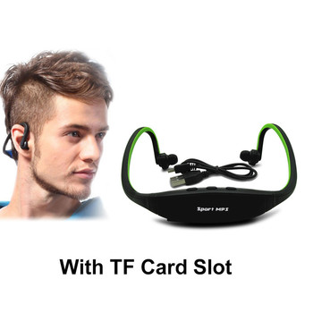 Sport MP3 Player Portable Headphone Music Running Earphone Headset with TF Card Slot MP3 Music Player Jack Lettore MP3 Wholesale