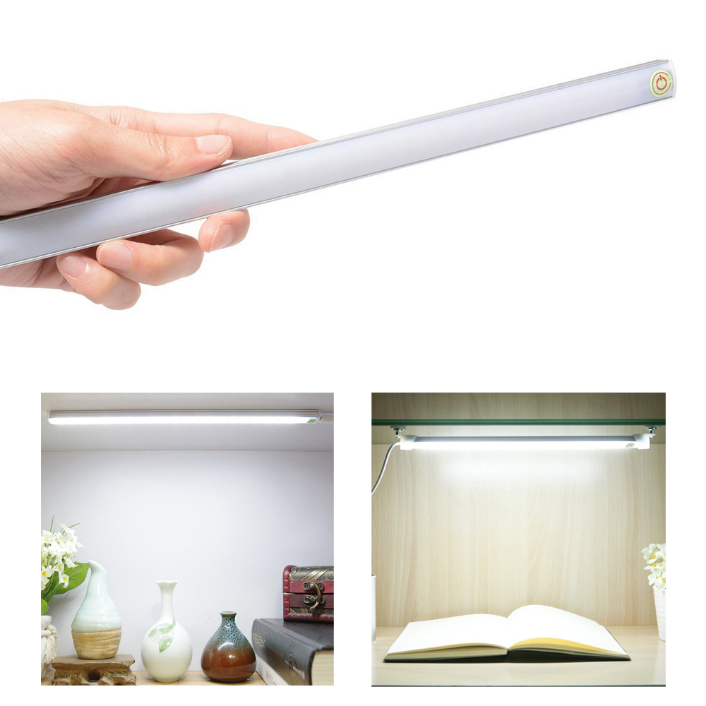 ultra thin usb touch sensor switch dimmable led kitchen under cabinet light kit bar lamp wardrobe wall desk table lighting strip