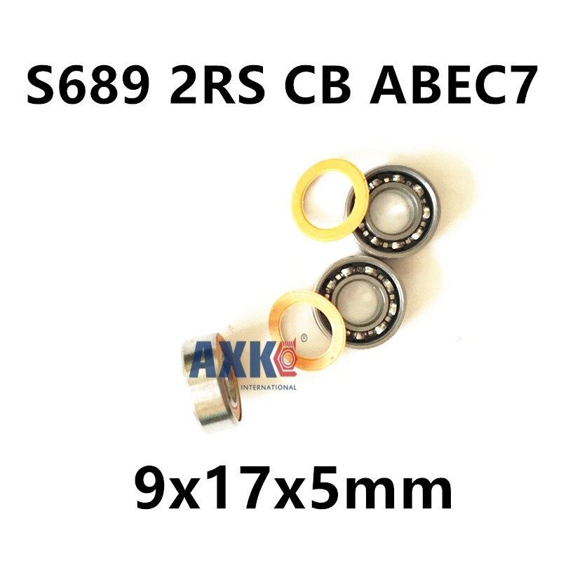 9x17x5 Stainless steel hybrid ceramic ball bearing S689 2RS CB ABEC7 9X17X5mm stainless steel hybrid ceramic ball bearing smr84 2rs cb abec7 4x8x3mm