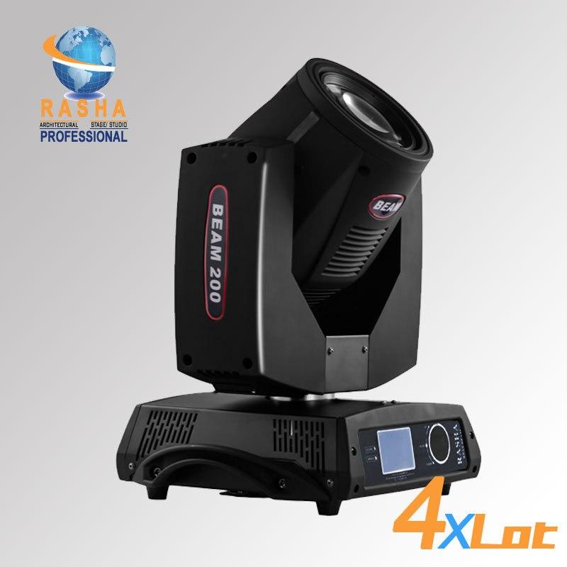 4X Rasha 200W 5R 20-канальний світлодіодний - Комерційне освітлення