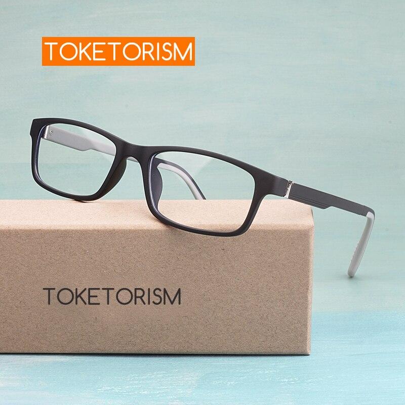 Toketorism Quality Flexible Lightweight ULTEM(PEI) Frame Anti Blue Light Computer Glasses For Unisex 3055