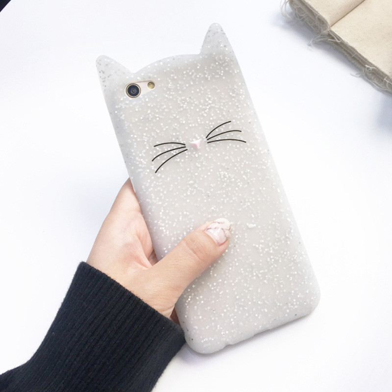 3D Cartoon Smile cat Case For Xiaomi Mi 9 SE mi9 Silicone Cover For Xiaomi Mi 8 Lite 6X 5 6 A2 8 SE Pocophone F1 Soft Shell in Fitted Cases from Cellphones Telecommunications