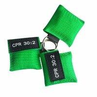 850 шт./упак. маска для искусственного дыхания при реанимации защитный экран CPR один способ брелок аварийный спасательный комплект одобрено