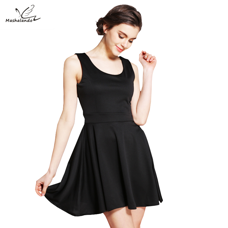 US $12.89 29% OFF Mashalando 60s Dress Little Black Dresses Summer Vintage  50s Dresses Plus Size Women Clothing Vestidos de Festa robe-in Dresses from  ...