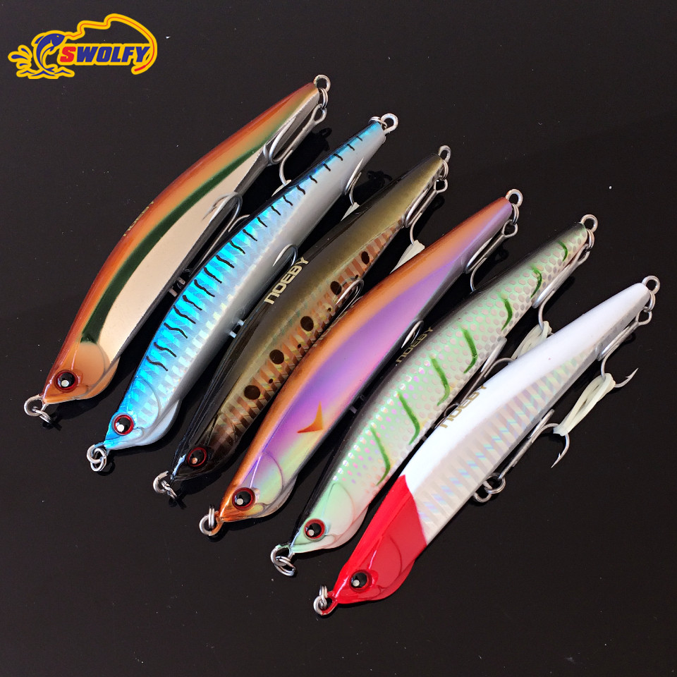 1 piece Fishing Lure Sinking Pencil Bait 12cm 33g Artificial Hard Lures With Owner Hook Tackle