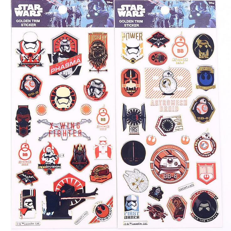 Creative Starwars Gilding Sticker Decorative Stickers Adhesive Stickers DIY Decoration Diary Stickers alive for all the things are nice stickers adhesive stickers diy decoration stickers