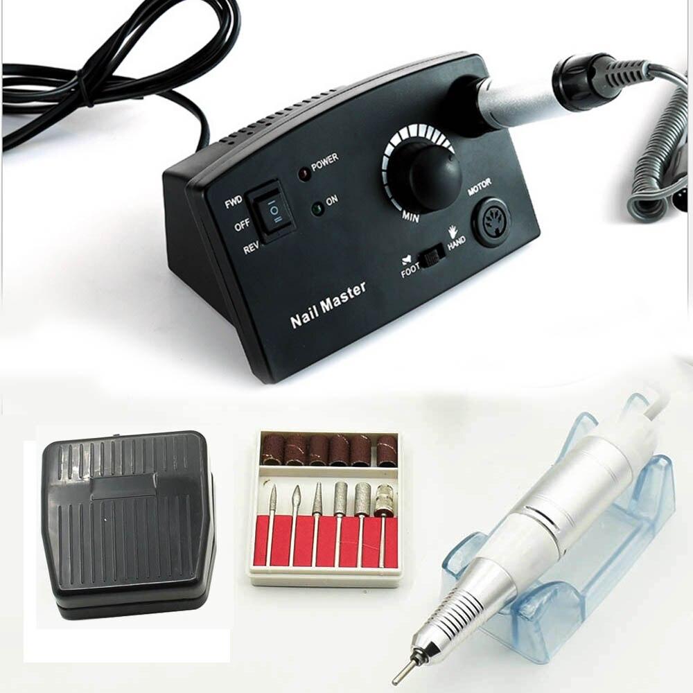 JEWHITENY 35000 rpm 25 w Máquina Elétrica Da Broca do Prego Manicure Cortador Acessório Kits Máquina Para Pedicure Manicure Arquivo ferramentas de Unhas