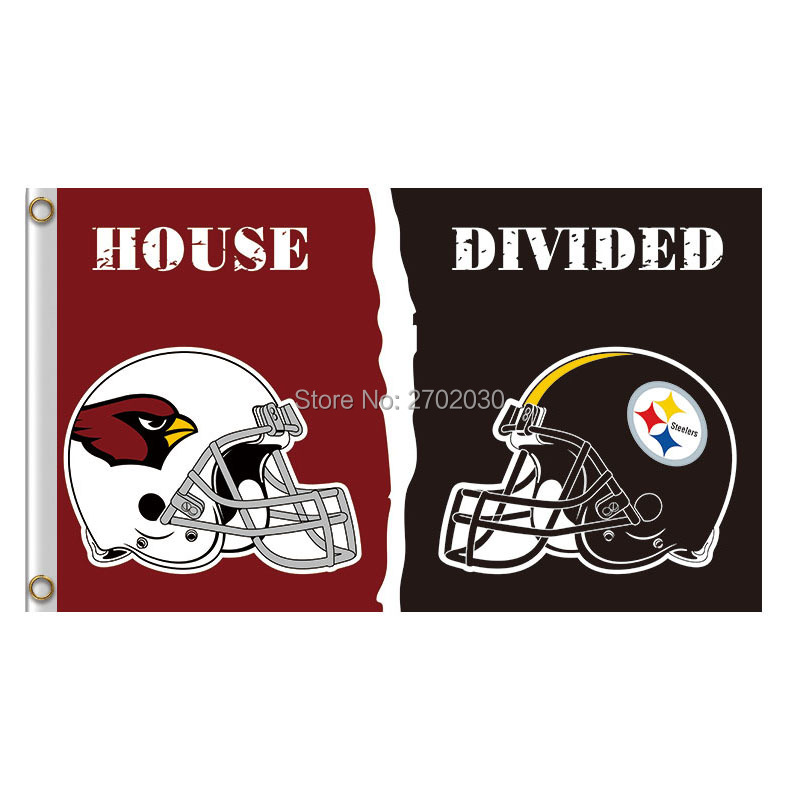 Arizona Cardinals Flag Vs Pittsburgh Steelers Banner Super Bowl Champions Fan Helmet Banner Flag Cardinals And Steelers Banners