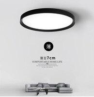 Estilo moderno e minimalista lâmpada do teto ultra fino  rodada lâmpada quarto  lâmpada de ferro preto e branco lâmpada de estudo  estilo estrangeiro|Luminárias de parede| |  -