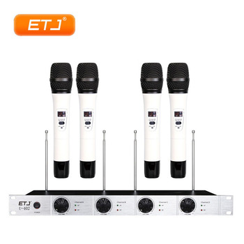 Professional Wireless Microphone 4 Transmitter Bodypack Headset Microphone Beltpack 4 Handheld VHF Wireless Microfone U-402