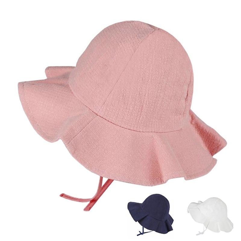 7a6a549c5292d Baby Summer Outdoor Bucket Hat Children Floral Print Panama Cap Sun Beach  Cap Lovely Lace Princess Baby Girl Brim Sun Hats