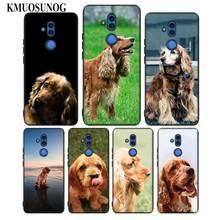For Huawei Honor Mate 7C 7A 8 8X 9 9N 10 20 Nova 3 3e 3i  Pro Lite Black Silicon Phone Case English Spaniel dog Style for huawei honor mate 7c 7a 8 8x 9 9n 10 20 nova 3 3e 3i pro lite black silicon phone case adventure time style