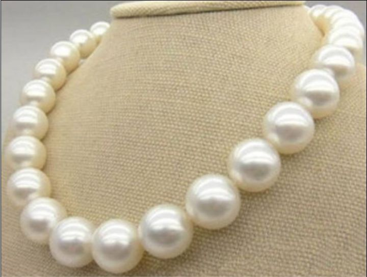 Huge1813mm natural south sea genuine white round pearl necklace good luster (0926) Huge1813mm natural south sea genuine white round pearl necklace good luster (0926)