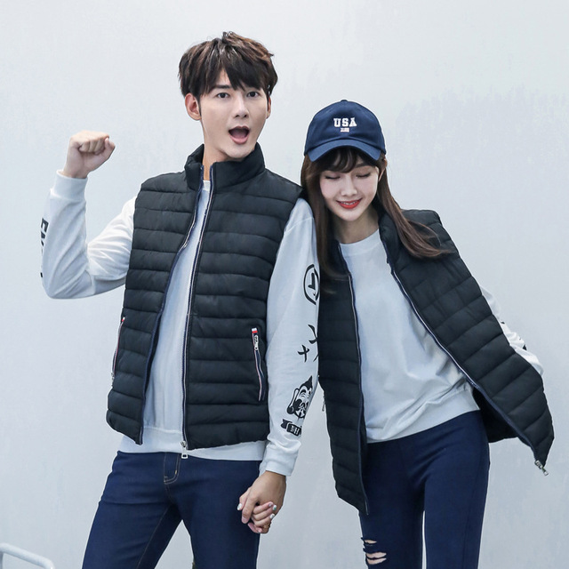 YG6168-3 Cheap wholesale 2016 new Man down vests young couples sleeveless vest, cotton thin cotton coat vest