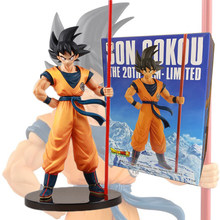20th anniversaire Dragon Ball Z soleil Goku or cube Dragon Ball Super Saiyan Goku Figurine Anime Figurine modèle poupée jouet(China)