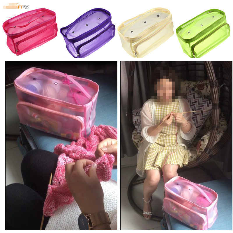 KOKNIT-Knitting-Bag-Organizer-for-Thread-Crochet-Tote-Bag-for-Yarn-Storage-Mesh-Bag-DIY-Hand