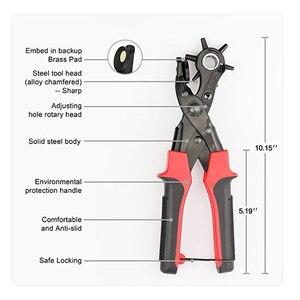 Image 3 - TRANVON Leathercraft ניקוב עבור עור חור אגרוף עבור חגורות תפרים Plier מחוררי חריר Piercer כלי מלאכת עור