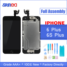 AAAAA Quality Full Set LCD Display For iPhone 6 S 6S Plus Complete LCD Screen Touch Digitizer Full Assembly Replacement Camera цены