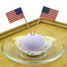 50pcs/Lot USA Flag Fruit Food Toothpick Paper Food Picks Cake Toothpicks Cupcake Fruit Sticks Birthday Party Accessories GF038