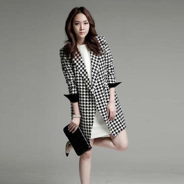 Outono Inverno Elegante Fino das Mulheres Ponto Aberto Dobby Casual Vestir para Trabalhar Partido Longo Trench Coat