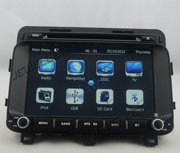 Navigation radio GPS DVD de voiture au tableau de bord pour Kia Optima K5 2014-2015 avec carte radio Bluetooth et GPS