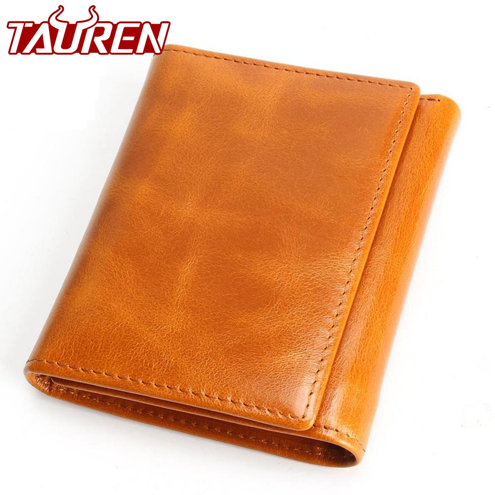 100% Women Genuine Leather Wallet Oil Wax Cowhide Purse Woman Vintage Lady Clutch Coin Purses Card Holder Carteira Feminina 100% women genuine leather wallet oil wax cowhide purse woman vintage lady clutch coin purses card holder carteira feminina