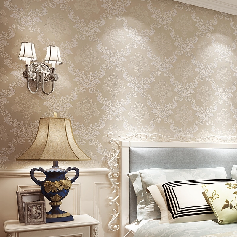 European Simple Luxury Wallpaper For Wall 3 D wall paper Classic Embossed TV Room Bedroom Wall paper Home Decor 53cm*9.5m/Roll luxury soft roll classical background 3d wall paper room mural rolls photo wallpaper for wall 3 d hotel livingroom bedroom decor