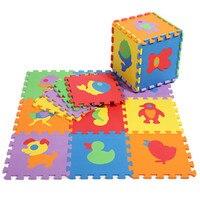 Khuyến mãi 10 cái/lốc động vật chơi mat con EVA phim hoạt hình puzzle tầng mat bé eva bọt chắp vá thảm sàn EDD004