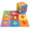 Promoção 10 pçs/lote animais esteira do jogo criança dos desenhos animados de EVA tapete puzzle de espuma bebê eva tapetes de retalhos EDD004