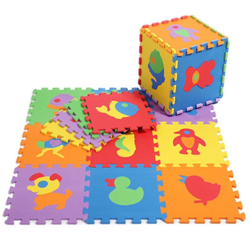 promotion 10 pcs lot animals play mat child cartoon eva puzzle floor mat baby eva foam patchwork floor mats edd004
