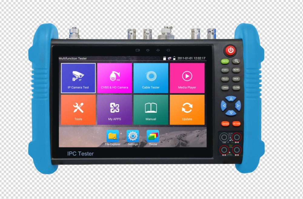 imágenes para 7 pulgadas de seis en un analog ahd cctv del monitor tester ip tvi CVI SDI Cámara H.265 4 K VFL Fibra TDR Multímetro Óptico ONVIF POE 12 V