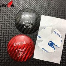 For Mercedes Benz CLS Class W218 CLS250 CLS350 400 500 550 CLS63 Carbon  Fiber Start Stop Engine Push Button Key Trim Sticker 11b51199181b