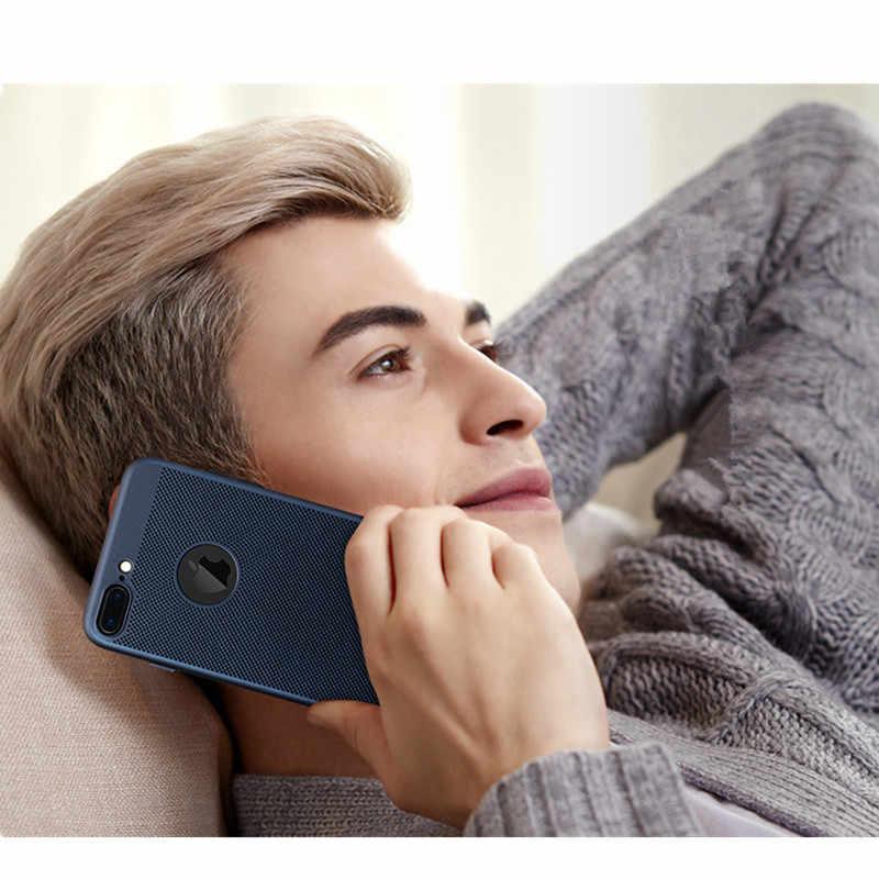 超スリム電話ケース iphone 6 6 s 7 8 プラス中空放熱ケースハード Pc のための Iphone 5 5 S 、 SE × 10 バックカバー Coque