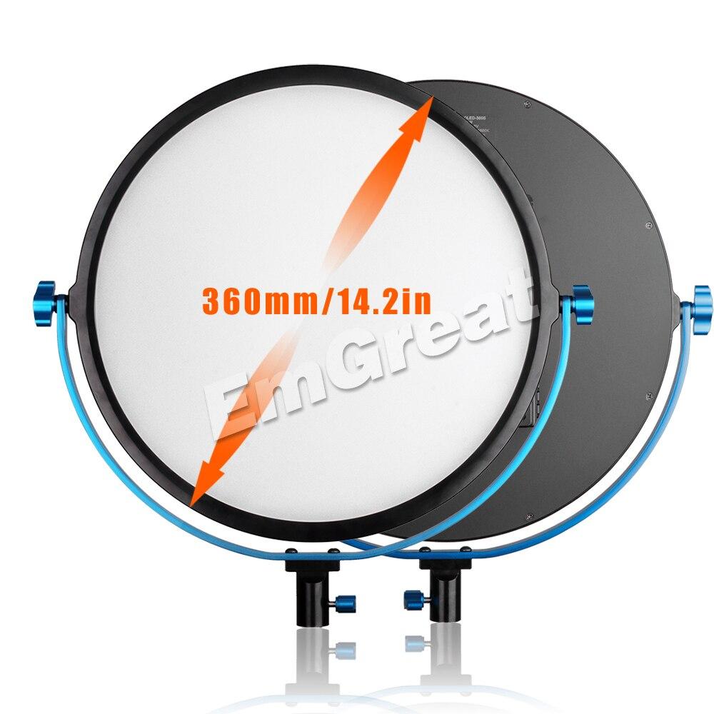 Pergear 256 Led Video Edge Light 60W Bicolor 3200K~5600K CRI 95+ 360 Degree Adjustable Round Light Baby Photography Soft Light