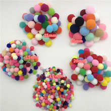 10mm/15mm/20mm/25mm/30mm Multicolor Pompom Fur Ball Plush Handmade Diy Material Early Learning Creative Hair