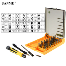 UANME Professional Home Repair Kit Hand Tools 45 in 1 for Mobile Phone Computer Electronic Model DIY UD4501-A